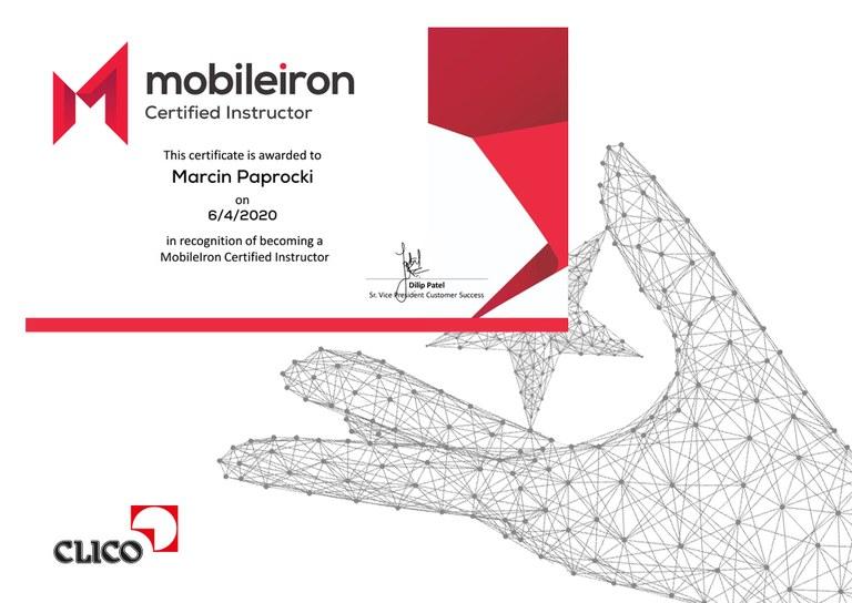 CLICO autoryzowanym ośrodkiem szkoleniowym MobileIron